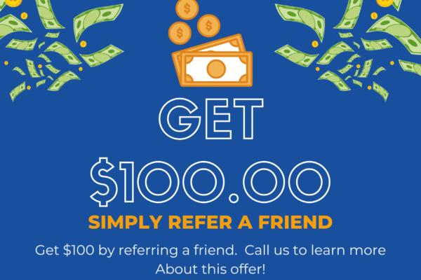 Get $100